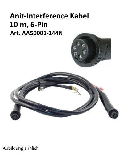 Kilews 6-PIN Anti-Interference Kabel 10m