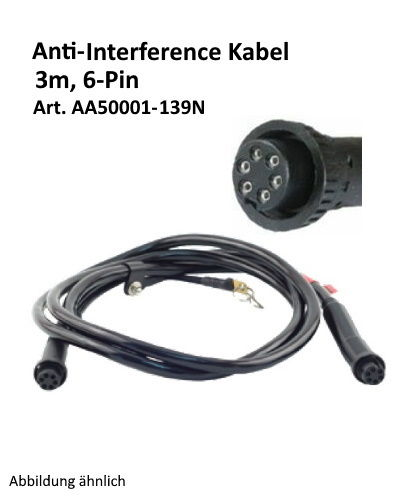 Kilews 6-PIN Anti-Interference Kabel 3m